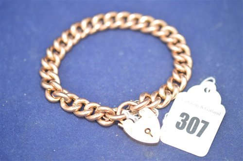 Lot 307-Gold bracelet