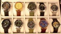 Lot 1173 - Ten dress watches