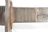 Image for Artillery Officer's sword