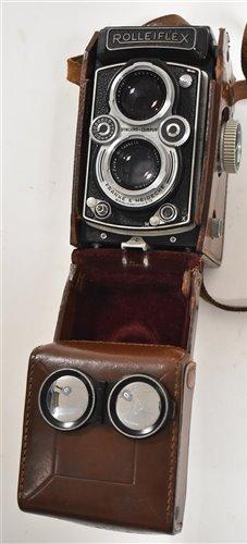 Lot 125-Rolleiflex TLR camera