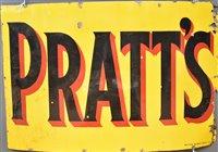Lot 134-Pratts enamel sign