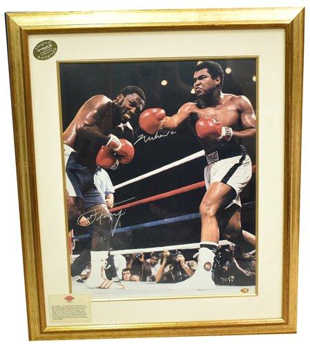 Lot 184 - Mohamed Ali and Joe Frazier signed print