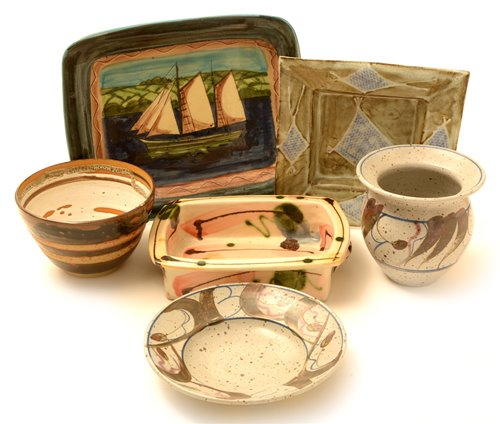 Lot 2-Six pieces of Studio pottery.