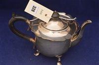 Lot 328-Silver teapot