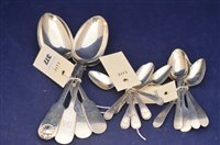 Lot 372-Silver spoons