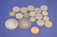 Lot 365-George V half sovereign and others coins
