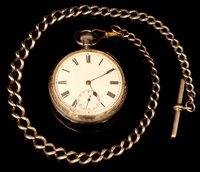 Lot 1172 - Silver cased pocket watch