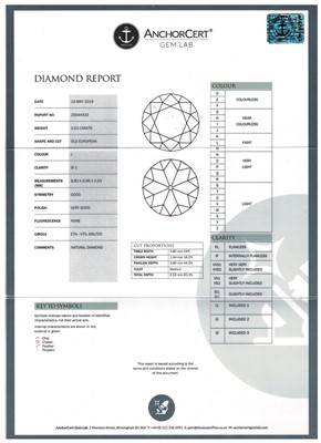 Lot 634-Single stone diamond ring