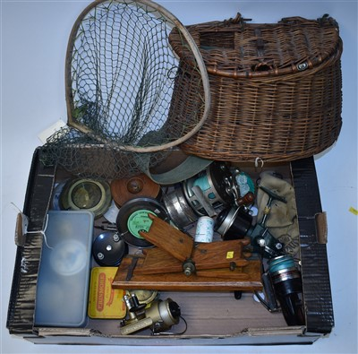 Lot 228-Fishing reels and other equipment