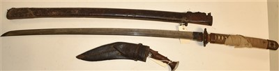 Lot 7-Japanese Katana and Nepalese Kukri