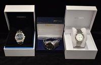 Lot 1165 - Three Seiko wristwatches