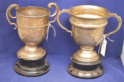 Lot 321-Two silver Wallsend Rifle Club trophy cups