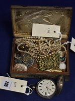 Lot 246-Pocket watch and costume jewellery