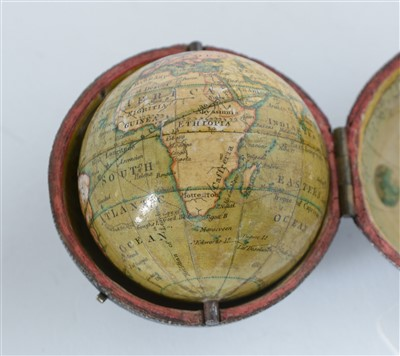 Lot 414 - A 2-inch Newton's pocket globe, English,...