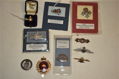 Lot 1-Military sweetheart jewellery