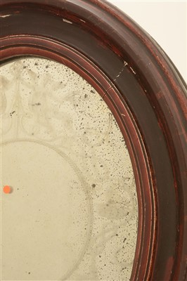 Lot 166 - Attributed to Robert Hudson, Newcastle upon Tyne: a George III oval mirror.