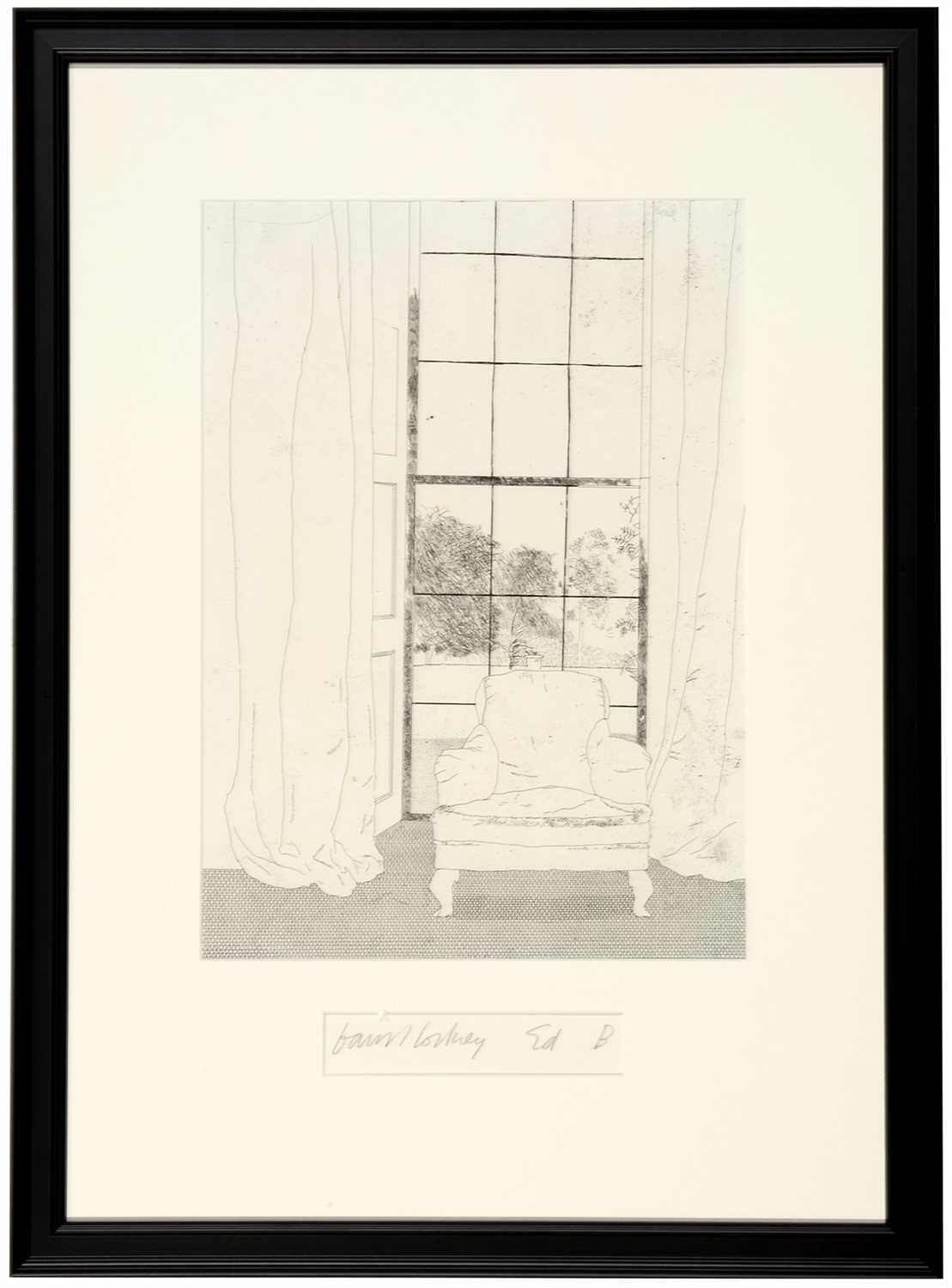 Lot 1646-David Hockney - etching..