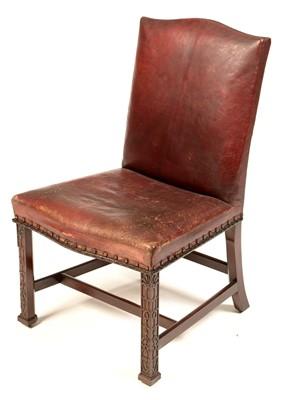 Lot 771 - A George III mahogany dining chair.