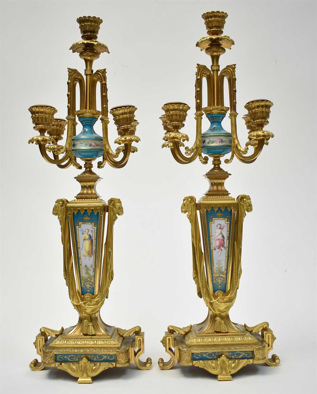 Lot 443 - A pair of candelabra