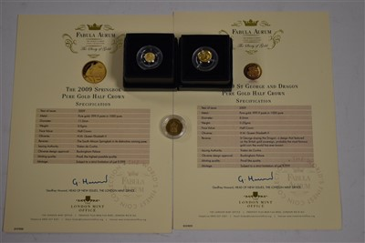 Lot 2-Three gold coins