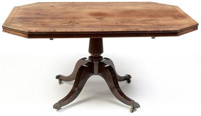 Lot 763 - A late Regency mahogany tilt action breakfast table.