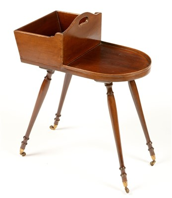 Lot 765 - A Georgian style mahogany butlers assistant or cutlery/plate stand.