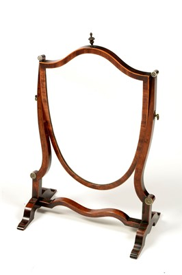 Lot 774 - A 19th Century mahogany swing framed toilet mirror.