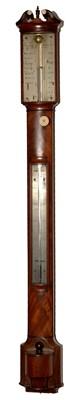 Lot 750 - J. Newman, London: a late Regency bowfront stick barometer.