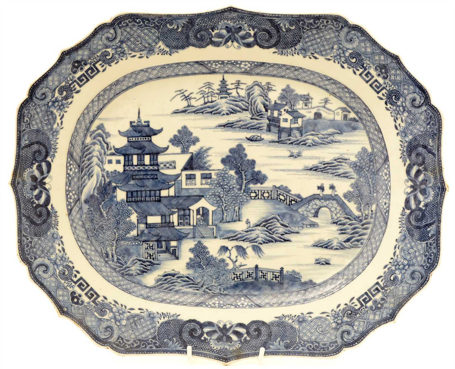 Lot 2-An 18th Century Chinese porcelain meat plate.