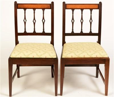 Lot 753 - Two Georgian mahogany dining chairs