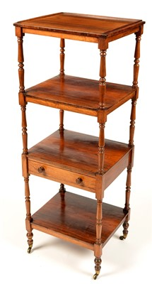 Lot 758 - A Regency rosewood four-tier whatnot.