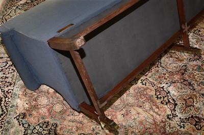 Lot 826 - A Georgian style mahogany bowfront settee.