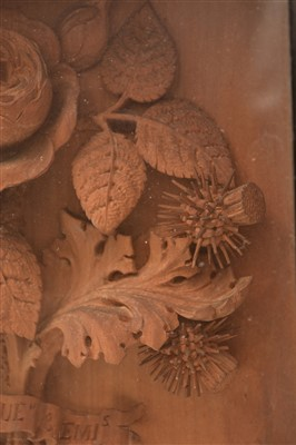 Lot 466-Carved panel by A.L. Bulletti