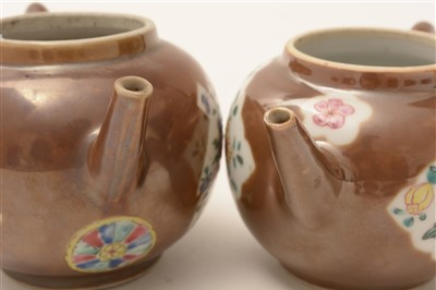 Lot 10-Two Chinese teapots.