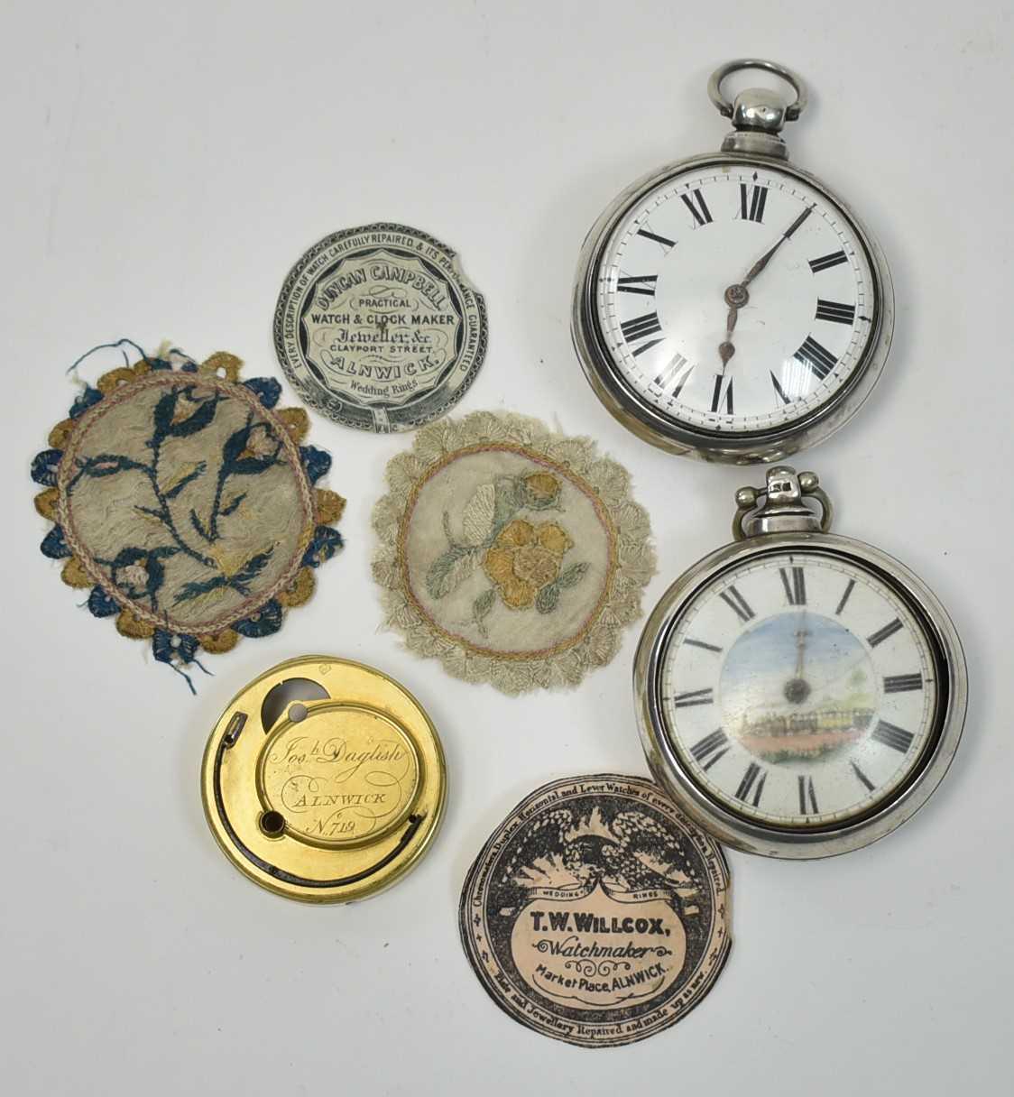Lot 554 - Alnwick interest pocket watches