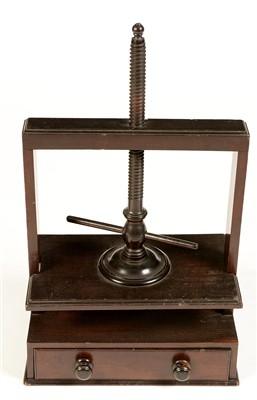 Lot 760 - A mahogany book press.