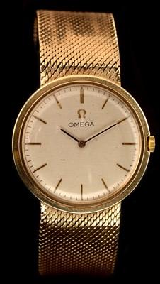 Lot 3-9ct Omega wristwatch