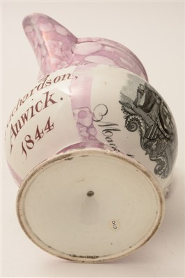Lot 107 - A rare documentary Alnwick interest jug.