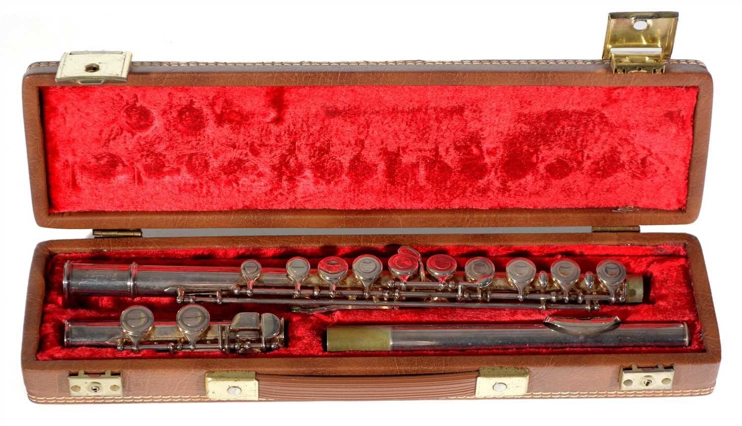 Lot 9-A Boosey and Hawkes Emperor Flute cased