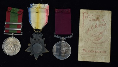 Lot 1733-Victorian medal trio