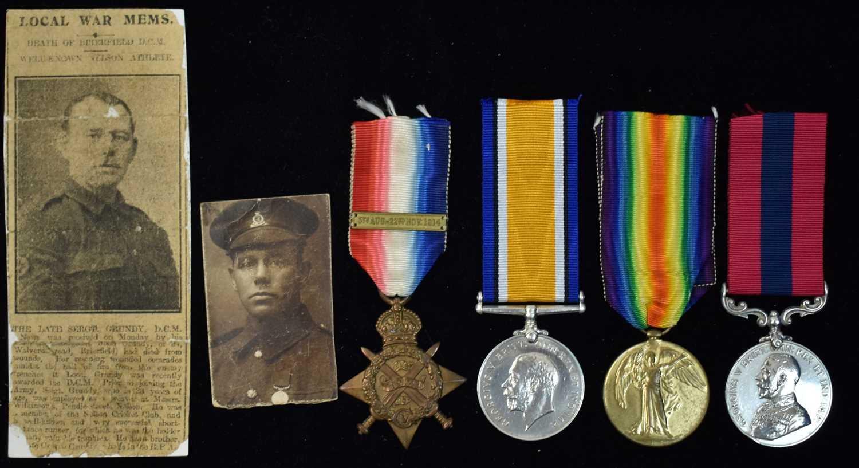 Lot 1745-DCM First World War group
