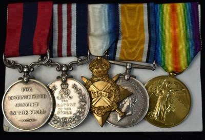 Lot 1527 - DCM and MM First World War group