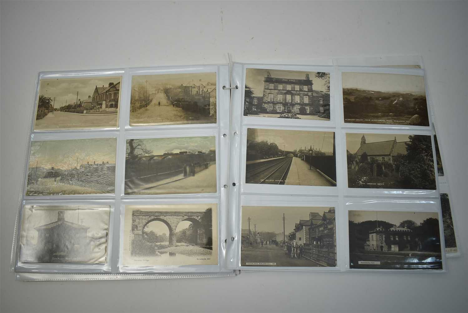 Lot 82-North East postcards, Slaggyford and North Durham area