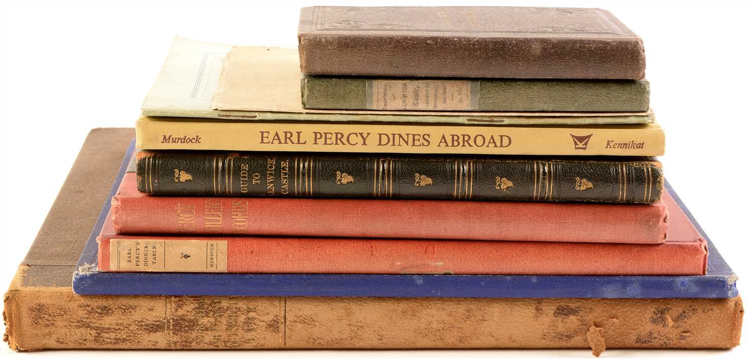 Lot 378 - Books and pamphlets relating to The Percy Family and Alnwick Castle.