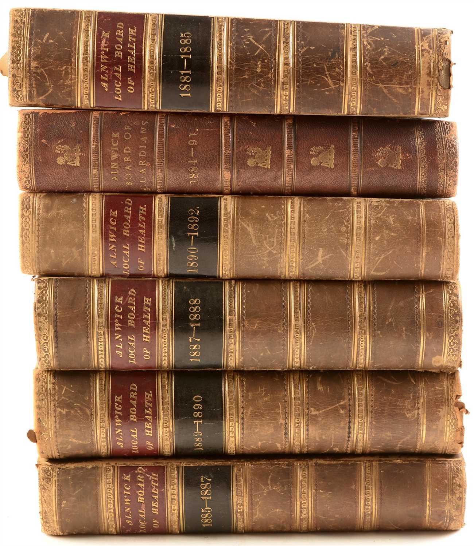 Lot 398-Six bound vols. - Alnwick Local Board of Health.