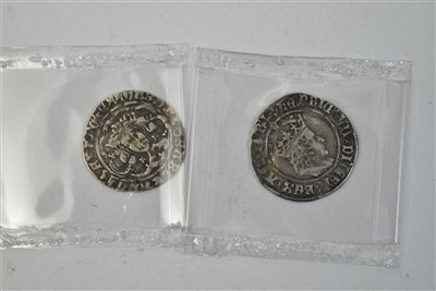 104 - Henry IV and Henry VIII groats