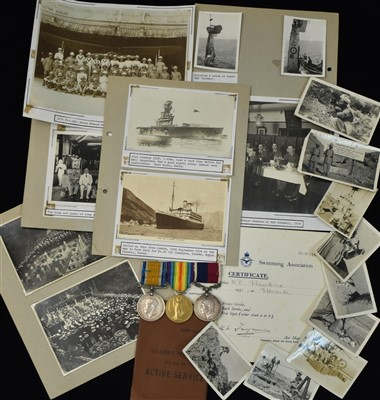 Lot 1776-Royal Air Force Long Service and Good Conduct medal and others