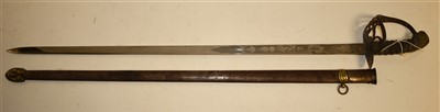 Lot 110-2nd Life Guards officer's sword