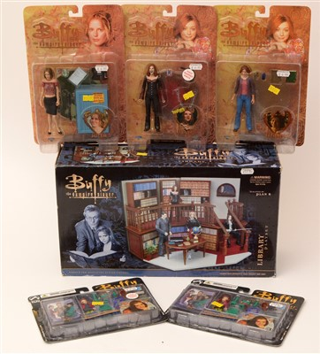 Lot 1245 - Buffy The Vampire Slayer play set and figurines.