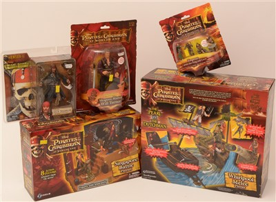 Lot 1246 - Pirates of the Caribbean playsets and figurines.